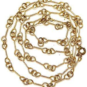Vintage gold chain link necklace